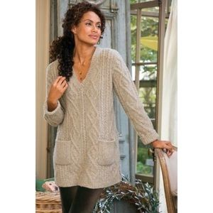 Soft Surroundings Cable Knit Sweater